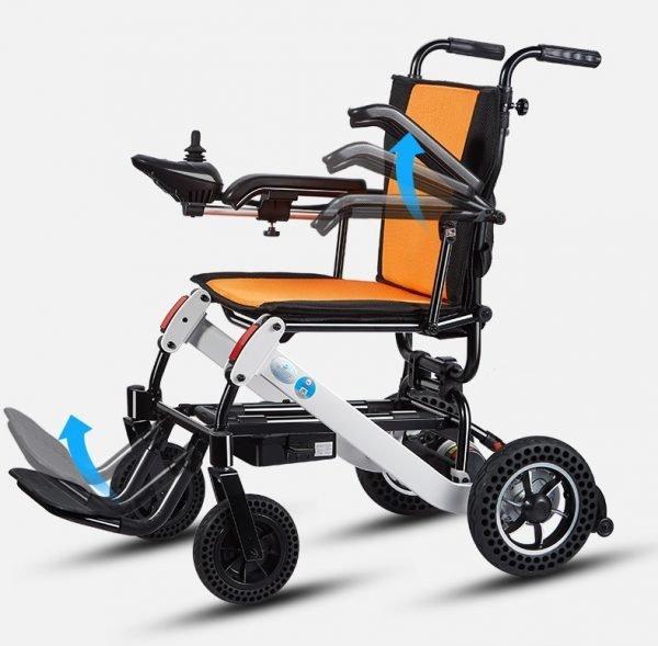 power wheelchair armrest reclining