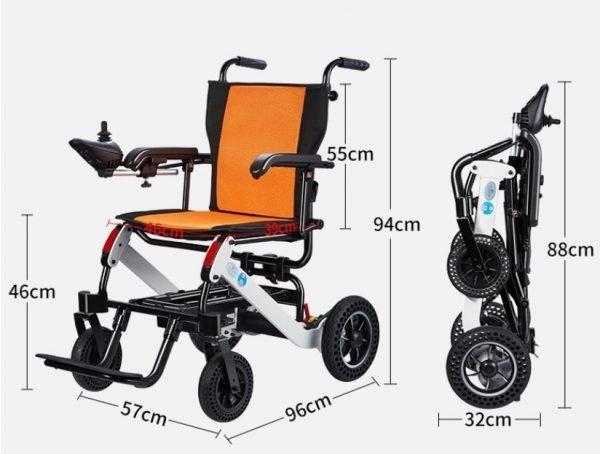 power wheelchair dimension