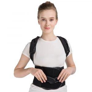 Lower Back Shoulder Corrector Support Brace Belt girl